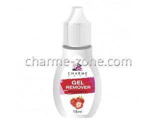 Гелевый ремувер Charme Zone с ароматом клубники