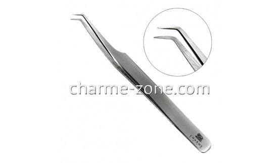 Пинцет Z-тип изогнутый стальной